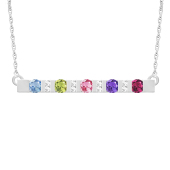ACCENTED BIRTHSTONE BAR NECKLACE