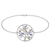 Mini Family Tree of Life Birthstone Bracelet