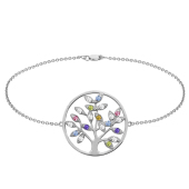 Mini Family Tree of Life Birthstone Bracelet