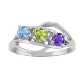 FREE FORM BIRTHSTONE RING