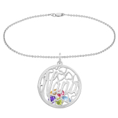 Nana Round Cage Birthstone Bracelet