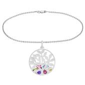 Family Tree Cage Charm Bracelet