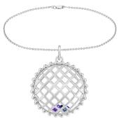 Round Cage Birthstone Charm Bracelet