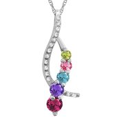 JOURNEY DIAMOND ACCENTED NECKLACE