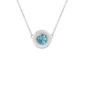 Round Bezel Birthstone Necklace