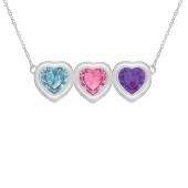 Heart Bezel Birthstone Necklace