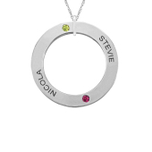 OPEN CIRCLE PERSONALIZED NECKLACE (MEDIUM)
