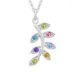 Family Tree Branch Birthstone Necklace