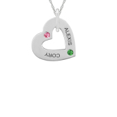 TILTED HEART NECKLACE (SMALL)