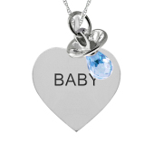 HEART TAG  AND PACIFIER CHARM NECKLACE
