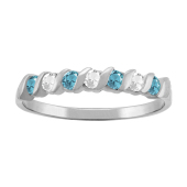 S STACKABLE BIRTHSTONE RING