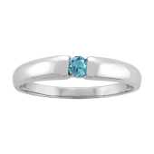 SOLITARY STACKABLE RING