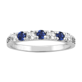 BANDED  ALTERNATING PERSONALIZED  RING