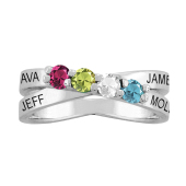 THIN CROSSOVER PERSONALIZED RING
