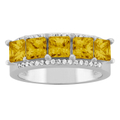 SQUARE  ACCENTED RING