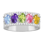OVAL ACCENTED RING