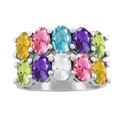 DOUBLE OVAL PERSONALIZED RING