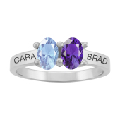 OVAL PERSONALIZED RING (LARGE)