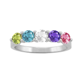 ROUND PERSONALIZED RING (LARGE)