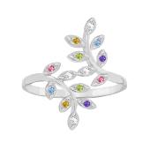 Family Tree Branch Birthstone Ring