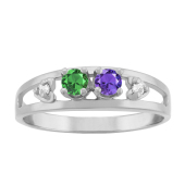 HEART DIAMOND ACCENTED RING