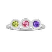 Round Bezel Birthstone Ring