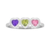 Heart Bezel Birthstone Ring