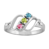 SPIRAL DIAMOND ACCENTED RING