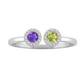 Two Stone Halo Ring