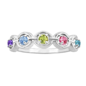 GEOMETRIC OVAL BIRTHSTONE RING F773
