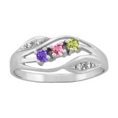 FREE FORM DIAMOND ACCENTED RING