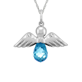 ANGEL BRIOLETTE CHARM NECKLACE