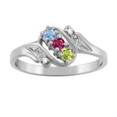 BYPASS DIAMOND ACCENTED RING
