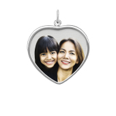 Framed Heart Photo Pendant (Chain not included)