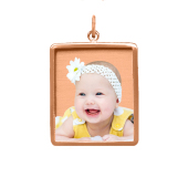 Framed Rectangle Photo Pendant (Chain not included).