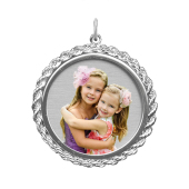 Rope Round Photo Pendant (Chain not included)