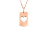 Small Heart Cut Out Tag (Chain not included)