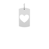Medium Heart Cut Out Tag (Chain not included)