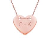 Engravable Heart Necklace