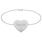 Engravable Heart Bracelet