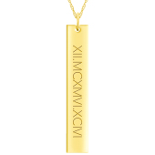 Engravable Vertical Bar Necklace