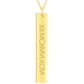 Engravable Vertical Bar Necklace