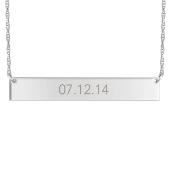 Engravable Horizontal Bar Necklace