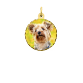 Round Photo Pendant (Chain not included)