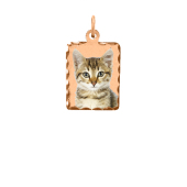 Rectangle Photo Pendant (Chain not included)