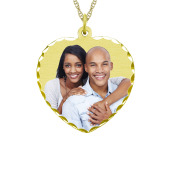 Heart Photo Necklace (Medium)
