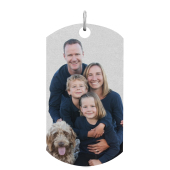X-Large Dog Tag Photo Pendant (Chain not included)