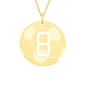 Engravable Sports Soccer Necklace