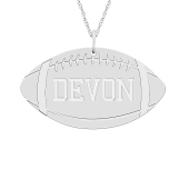 Engravable Sports Football Necklace